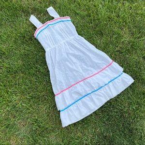 Vtg 60s 70s handmade prairie dress midi dress sm